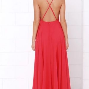Lulu's Dresses - Lulu's cross back maxi dress